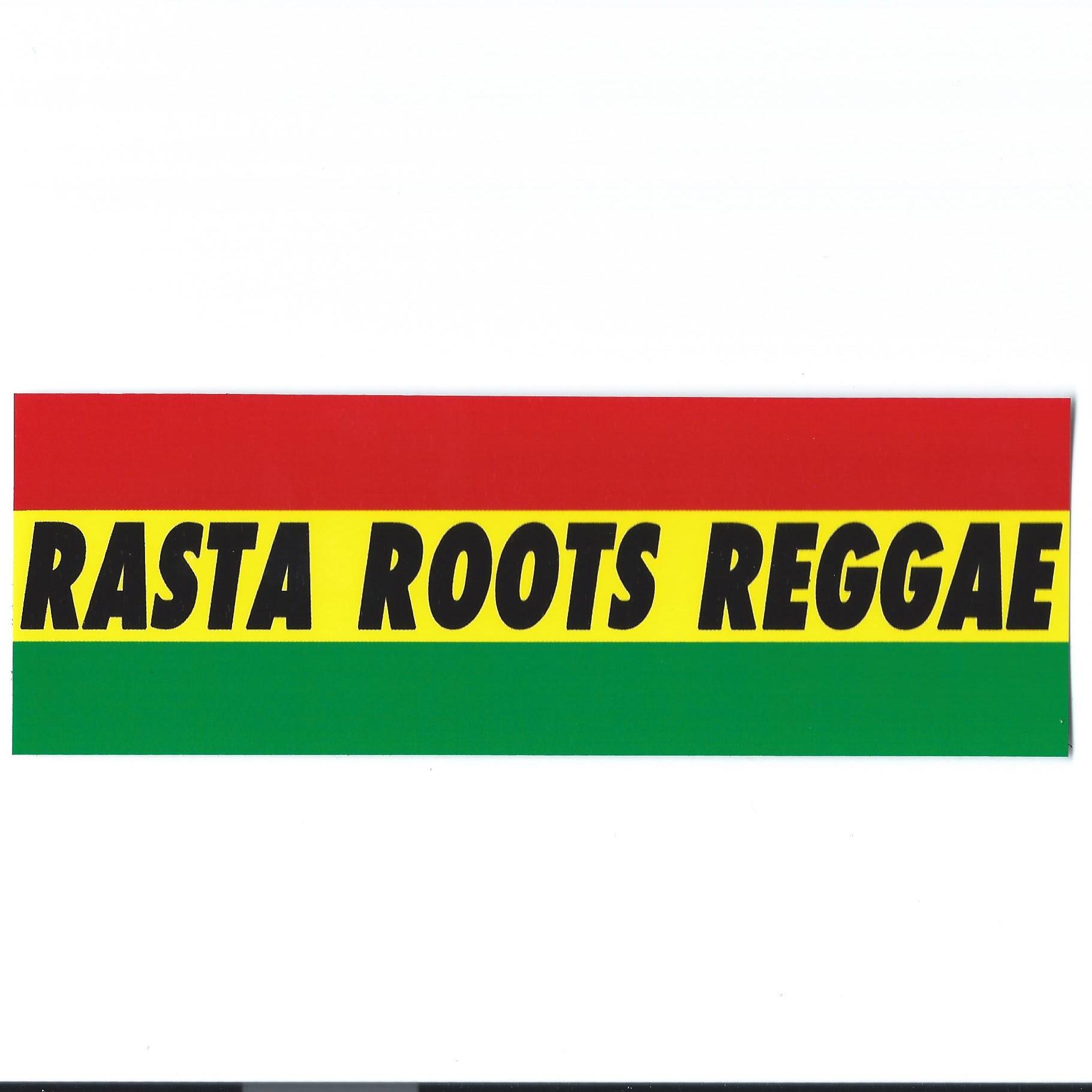 Sticker rasta roots reggae