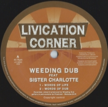 "10"" WEEDING DUB FT SISTER CHARLOTTE - WORDS OF LIFE"