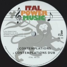 "12"" - I-SHAKH - NAH GIVE UP FARI/ITAL MICK - CONTEMPLATIONS"