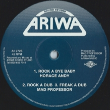 "12"" HORACE ANDY - LIFE IN THE GHETTO/ROCK A BYE BABY"