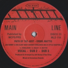 "12"" ERROL MATTIS - PATH OF THE JUST/JAH BUNNY - INA 81 STYLE CHAPTER 4"