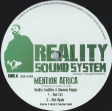 "12"" REALITY SOULJAHS & DONOVAN KINGJAY - MENTION AFRICA/ YOU NO GOOD"