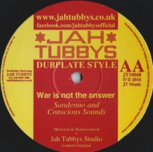 "10"" JAH RAGGA - ANCIENT EGYPT/SANDEENO - WAR IS NOT THE ANSWER"