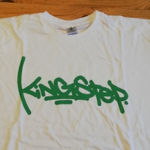 T-SHIRT KINGSTEP LARGE WHITE