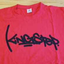 T-SHIRT KINGSTEP LARGE RED